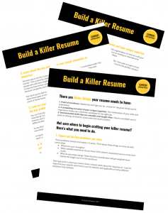Our game-changing resume worksheet walks you through the process of landing a great job with a fantastic resume.