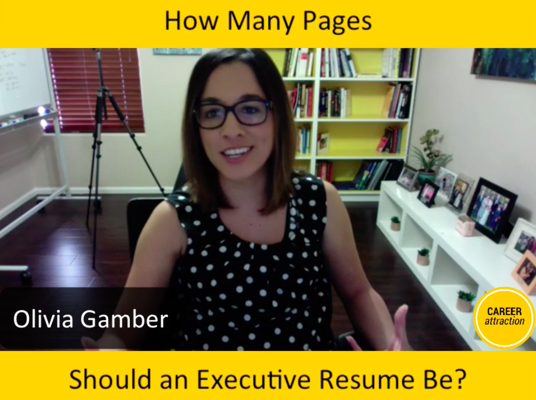 how many pages should my executive resume be